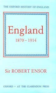 England 1870-1914. The Oxford History of England