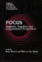 Focus - Linguistic, Cognitive, and Computational Perspectives by   Rob van der Sandt - 1st - 1998 - from DELHI BOOK STORE and Biblio.com