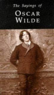 image of Sayings of Oscar Wilde, The