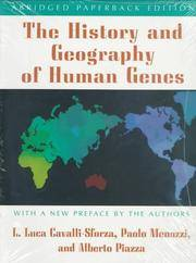 The History and Geography of Human Genes: (Abridged paperback edition) by  Alberto Piazza  Paolo Menozzi - Paperback - Abridged - 1996-08-05 - from Ergodebooks and Biblio.com
