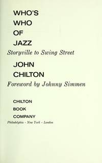 Who's Who of Jazz Storyville to Swing Street