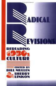Radical Revisions: Rereading 1930s Culture