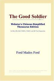 image of The Good Soldier (Webster's Chinese-Simplified Thesaurus Edition)