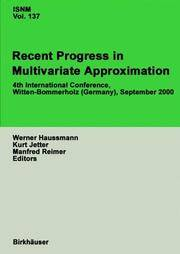 Recent Progress In Multivariate Approximation (Hardcover, 2002) - Used Books