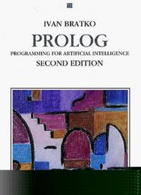 Prolog: Programming For Artificial Intelligence (International Computer Science Series)