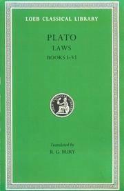 image of Plato: Laws, Books 1-6 (Loeb Classical Library No. 187) (Volume I)