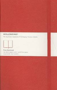 Moleskine Classic Notebook, Large, Plain, Scarlet Red, Hard Cover (5x8.25)