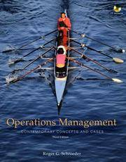 image of Operations Management: Contemporary Concepts and Cases (The Mcgraw-Hill/Irwin Series Operations and Decision Sciences)