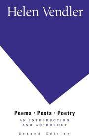 Poems, Poets, Poetry: An Introduction and Anthology by Helen Vendler - Paperback - 2002-03-09 - from Books Express and Biblio.com