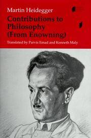 image of Contributions to Philosophy (From Enowning) (Studies in Continental Thought)