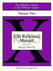 XLIB Reference Manual R5 (Definitive Guides to the X Window System)