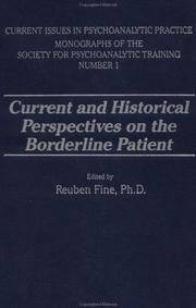 image of Current and Historical Perspectives on the Borderline Patient (Current Issues in Psychoanalytic Practice )