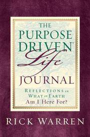 image of The Purpose Driven Life Journal