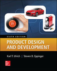 Product Design and Development by Steven D. Eppinger Karl Ulrich - Hardcover - 6th - 2015-04 - from textbookforyou (SKU: 333)