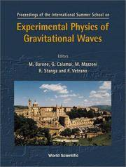 Proceedings of the International Summer School on: Experimental Physics of Gravitational Waves Urbino, Italy September 6-18, 1999 by  International Summer School on Experimental Physics of Gr w - Hardcover - 2000 - from DSMBOOKS (SKU: F5S3-8-Z-9810243065-5)