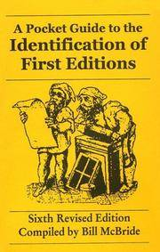image of Pocket Guide to the Identification of First Editions