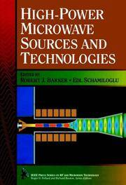 High-Power Microwave Sources and Technologies by  Robert Barker - Hardcover - 2001 - from Rob Briggs Books (SKU: 23883)