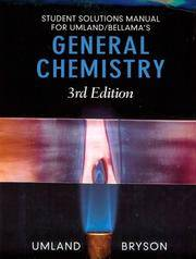 Student Solutions Manual for Umland/Bellama's General Chemistry