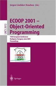 ECOOP 2001 - Object-Oriented Programming: 15th European Conference, Budapest, Hungary, June...