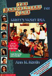 image of Kristy's Worst Idea (Baby-Sitters Club #100)