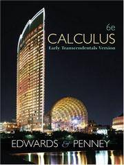 Calculus, Early Transcendentals (6th Edition)