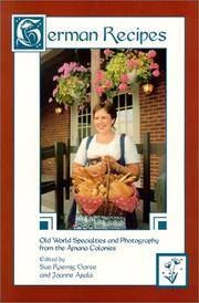 German Recipes: Old World Specialties from the Amana Colonies