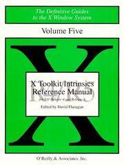 X Toolkit Intrinsics Reference Manual For X11 Release 4 and Release 5
