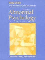 image of Abnormal Psychology in a Changing World: Study Guide