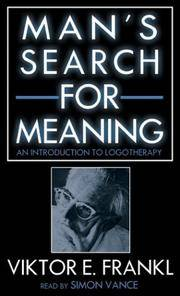 image of Man's Search for Meaning: An Introduction to Logotherapy (Unabridged on Audio Cassette).