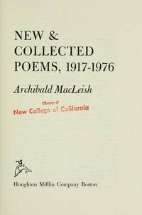 New  Collected Poems, 1917-1976