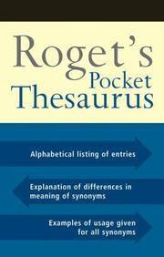 Roget's Pocket Thesaurus
