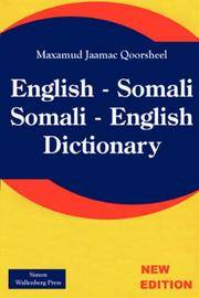 English - Somali; Somali - English Dictionary (English and Somali Edition)