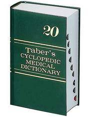 Taber's Cyclopedic Medical Dictionary: 20th Edition (Thumb Index)