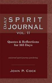 Daily Spirit Journal Vol. II.  Quotes & Reflections for 365 Days