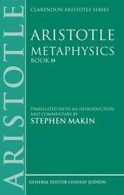 image of Aristotle: Metaphysics Theta : Translated with an Introduction and Commentary