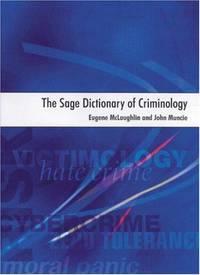SAGE Dictionary Of Criminology