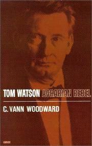 image of Tom Watson: Agrarian Rebel (Galaxy Book)