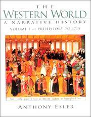 image of The Western World: A Narrative History: Prehistory to 1715 (Volume I)