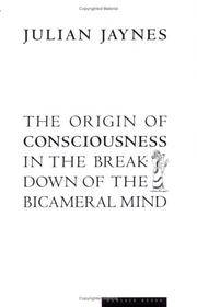 image of The Origin of Consciousness in the Breakdown of the Bicameral Mind