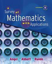 9780321501073: survey of mathematics with applications, a (8th.