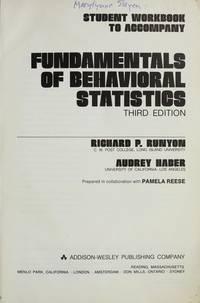 Student workbook to accompany Fundamentals of behavioral statistics, 3rd ed