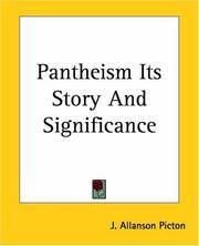 Pantheism Its Story And Significance by J. Allanson Picton - Paperback - 2004-06-17 - from Books Express and Biblio.com