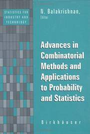 Advances in Combinatorial Methods and Applications to Probability and Statistics (Statistics for...