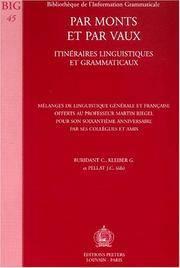 Par Monts Et Par Vaux. Itineraires Linguistiques Et Grammaticaux Melanges De - Used Books