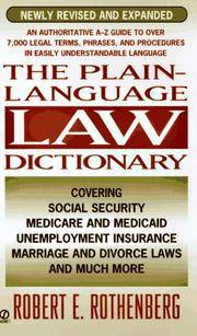 Plain Language Law Dictionary: Revised Edition