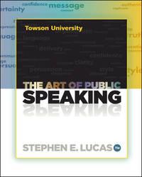 image of The Art of Public Speaking (Towson University Custom)