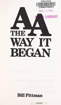 image of AA  the Way it Began