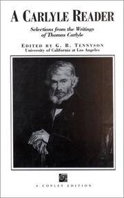 A Carlyle Reader: Selections from the Writings of Thomas Carlyle
