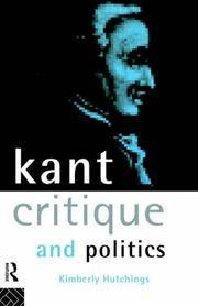 Kant, Critique and Politics