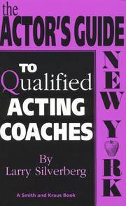 image of The Actor's Guide to Qualified Acting Coaches: New York (Career Development Series)